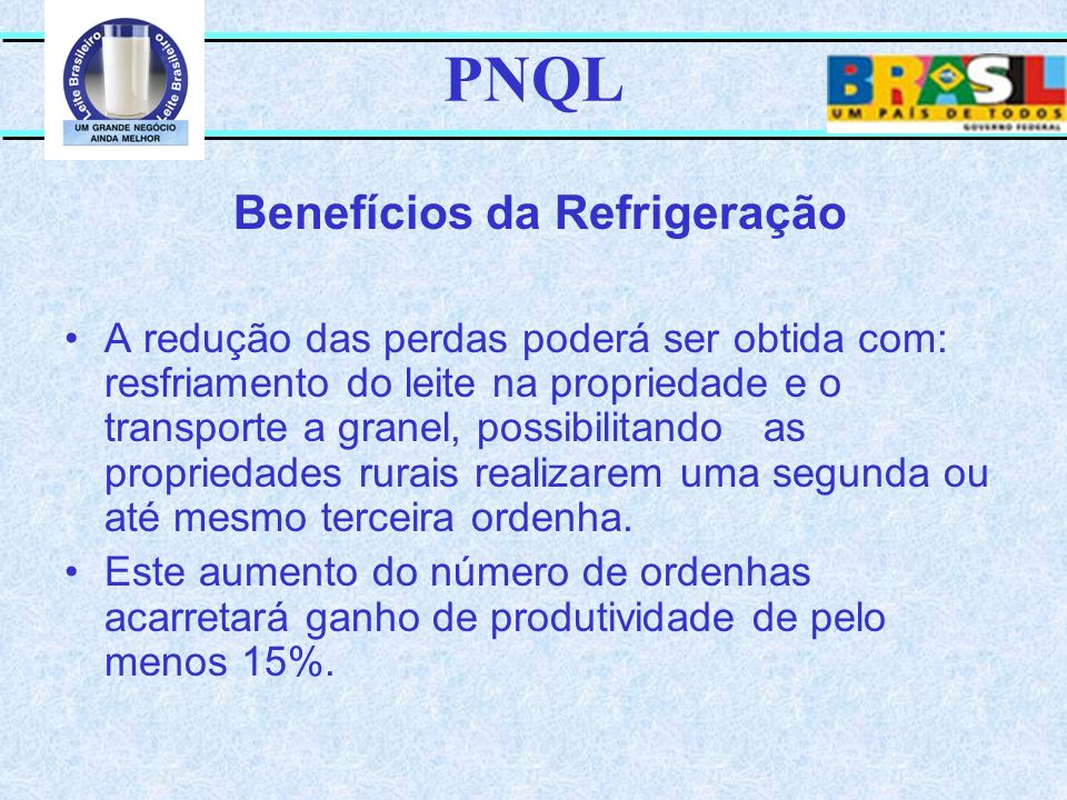 PNQL Benefícios da Refrigeração