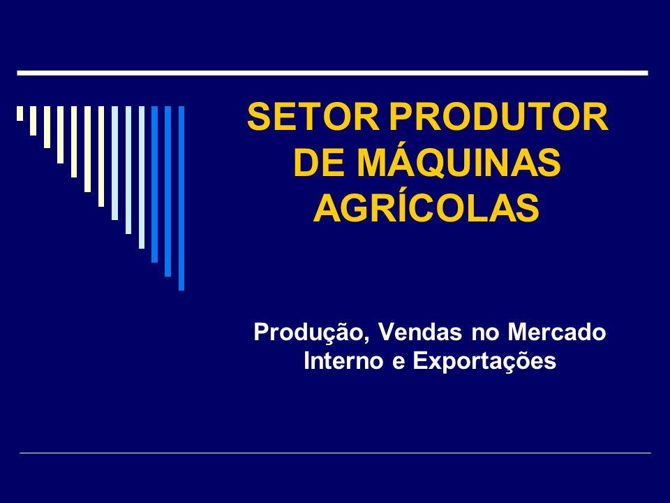 SETOR PRODUTOR DE MÁQUINAS AGRÍCOLAS