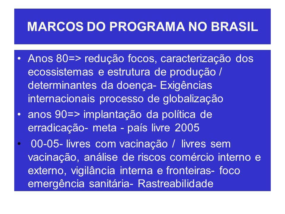 MARCOS DO PROGRAMA NO BRASIL