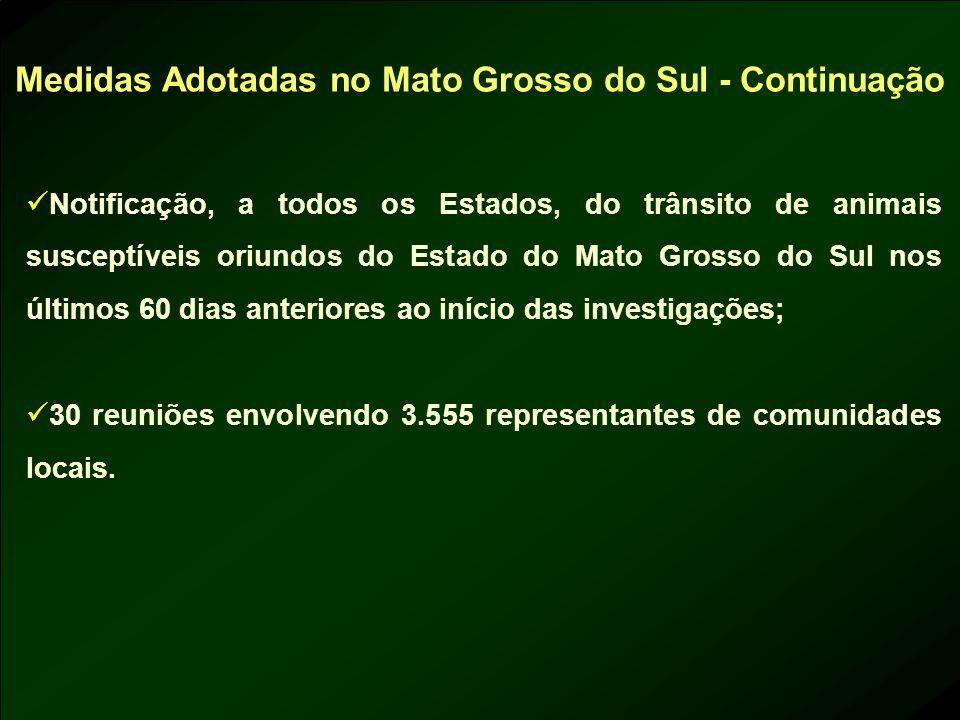 Medidas Adotadas no Mato Grosso do Sul - Continuação