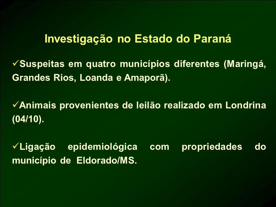 Investigação no Estado do Paraná