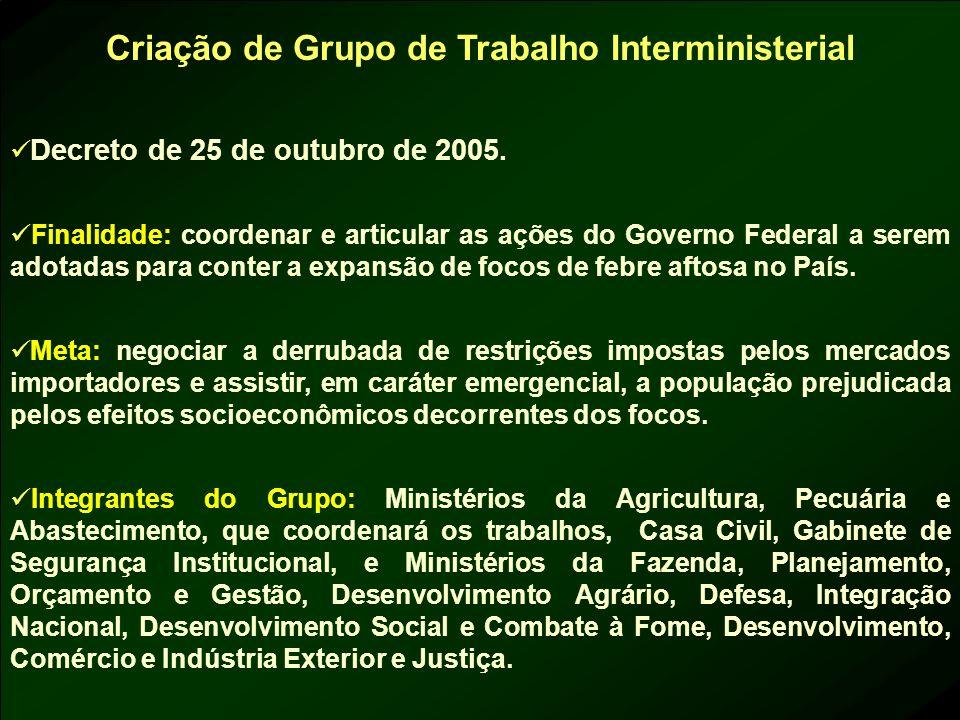 Criação de Grupo de Trabalho Interministerial