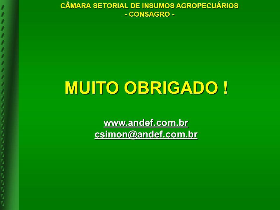 MUITO OBRIGADO ! www.andef.com.br csimon@andef.com.br