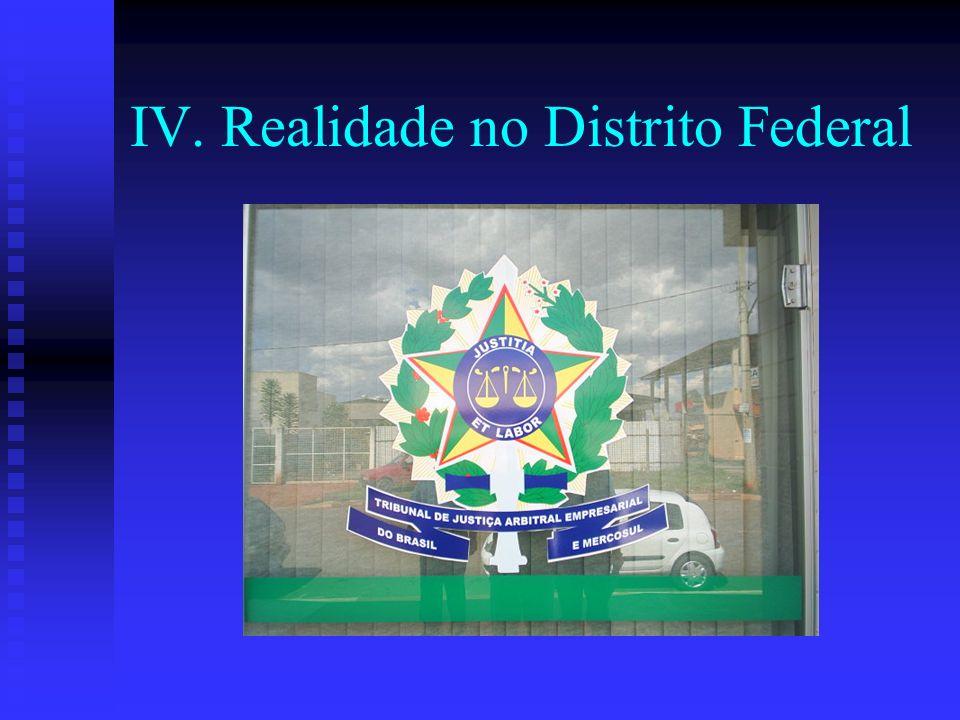 IV. Realidade no Distrito Federal
