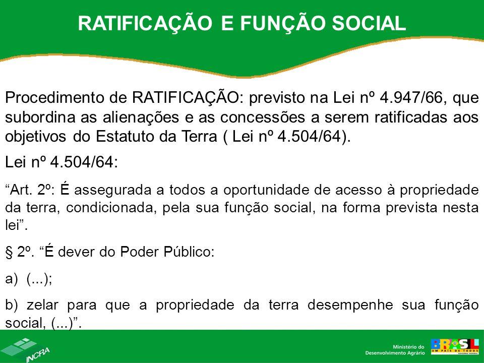 RATIFICAÇÃO E FUNÇÃO SOCIAL