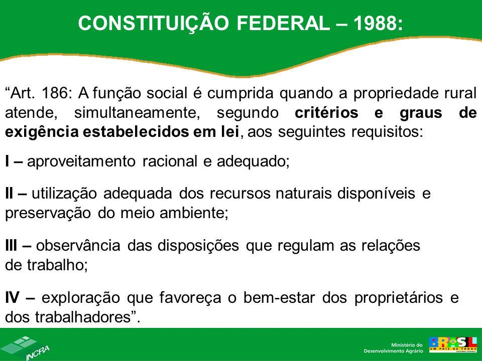 CONSTITUIÇÃO FEDERAL – 1988:
