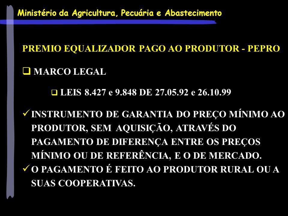 PREMIO EQUALIZADOR PAGO AO PRODUTOR - PEPRO