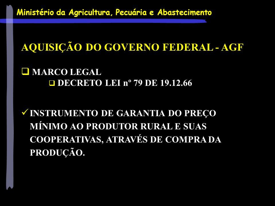 AQUISIÇÃO DO GOVERNO FEDERAL - AGF