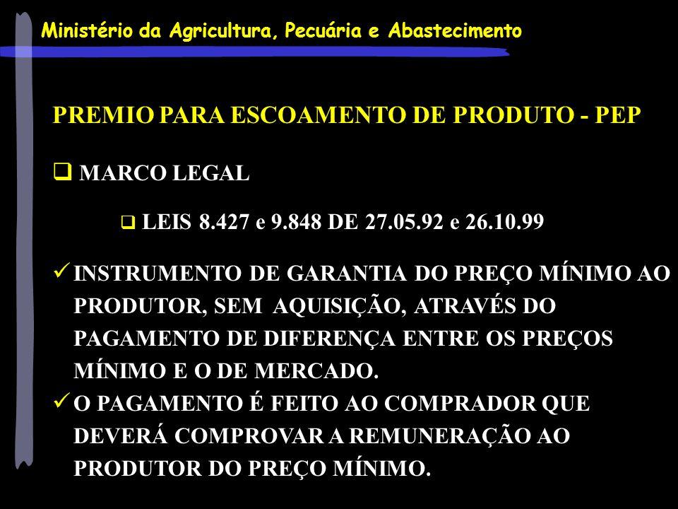 PREMIO PARA ESCOAMENTO DE PRODUTO - PEP