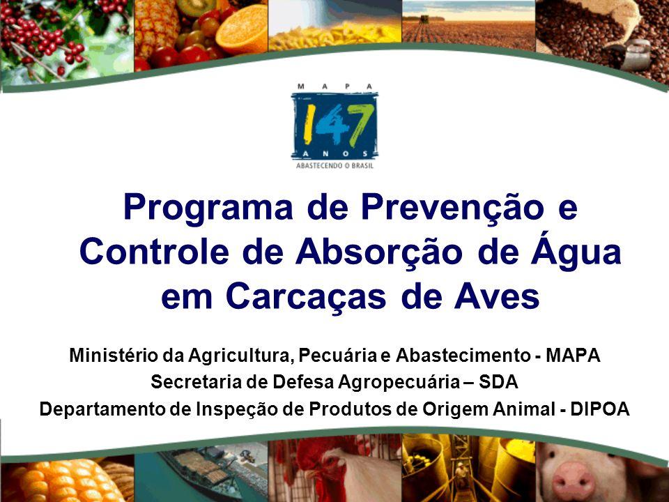 Programa de Prevenção e Controle de Absorção de Água em Carcaças de Aves