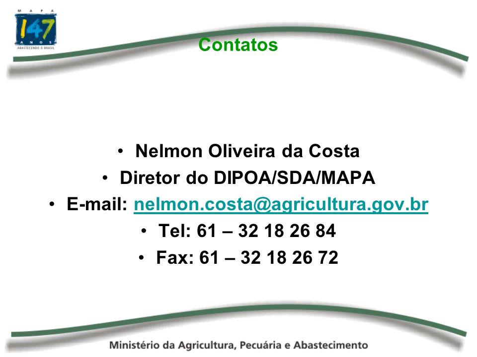 Nelmon Oliveira da Costa Diretor do DIPOA/SDA/MAPA