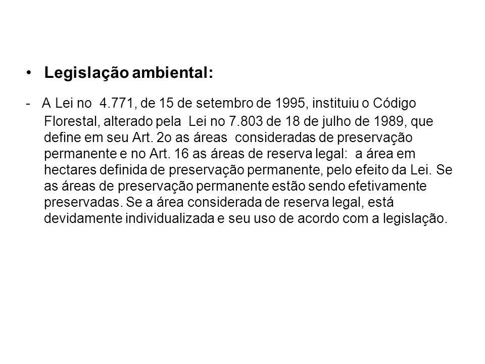 Legislação ambiental: