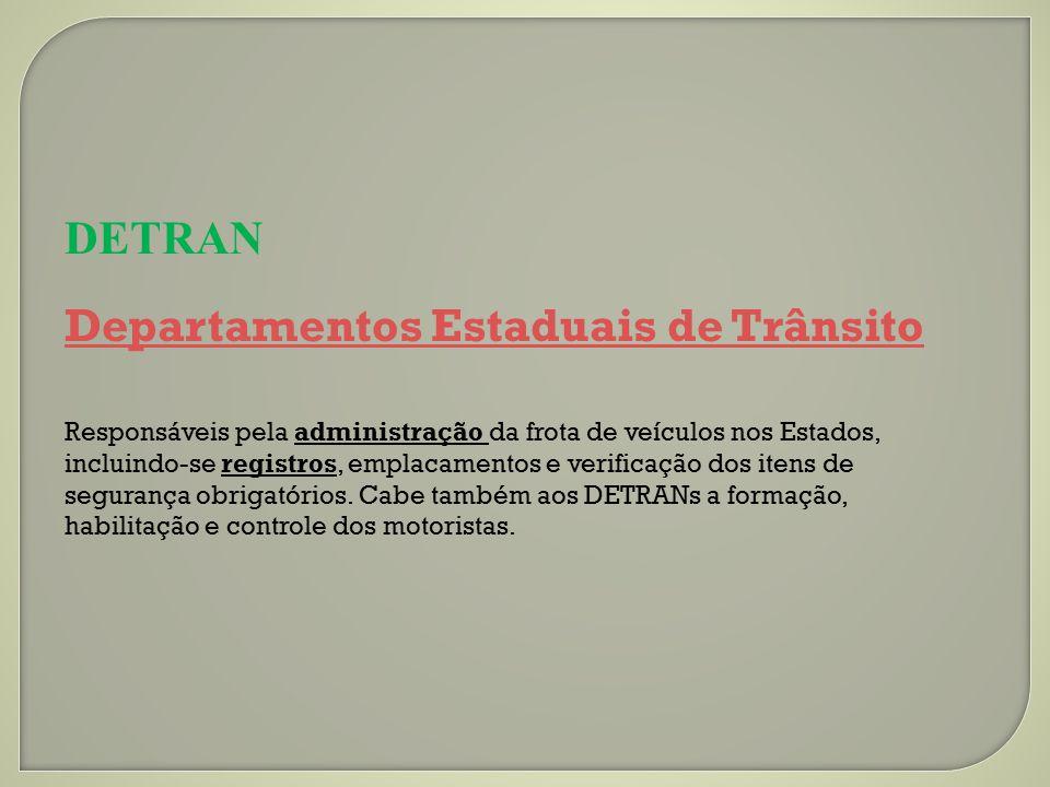 DETRAN Departamentos Estaduais de Trânsito
