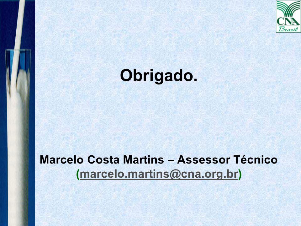 Marcelo Costa Martins – Assessor Técnico (marcelo.martins@cna.org.br)