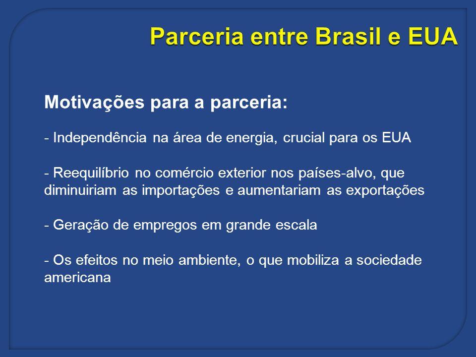 Parceria entre Brasil e EUA
