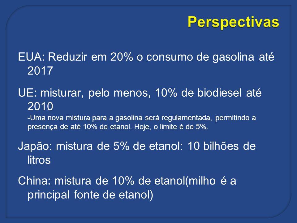 Perspectivas EUA: Reduzir em 20% o consumo de gasolina até 2017