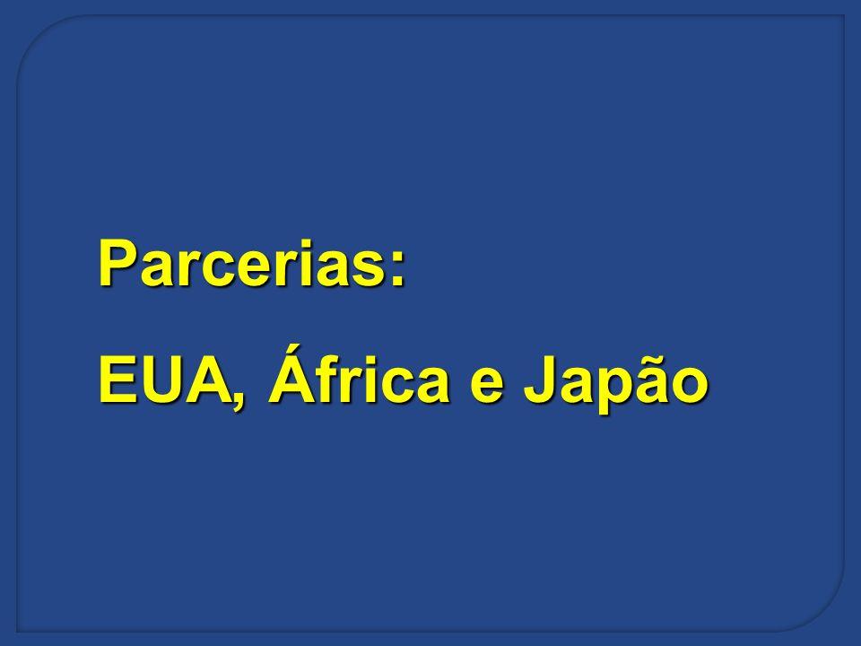 Parcerias: EUA, África e Japão