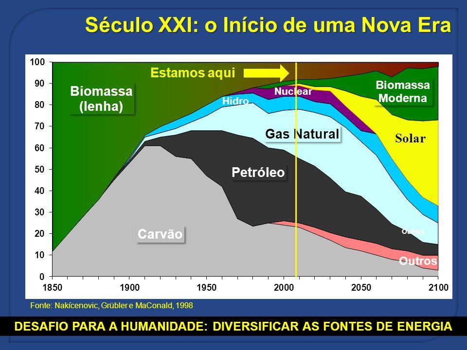 DESAFIO PARA A HUMANIDADE: DIVERSIFICAR AS FONTES DE ENERGIA