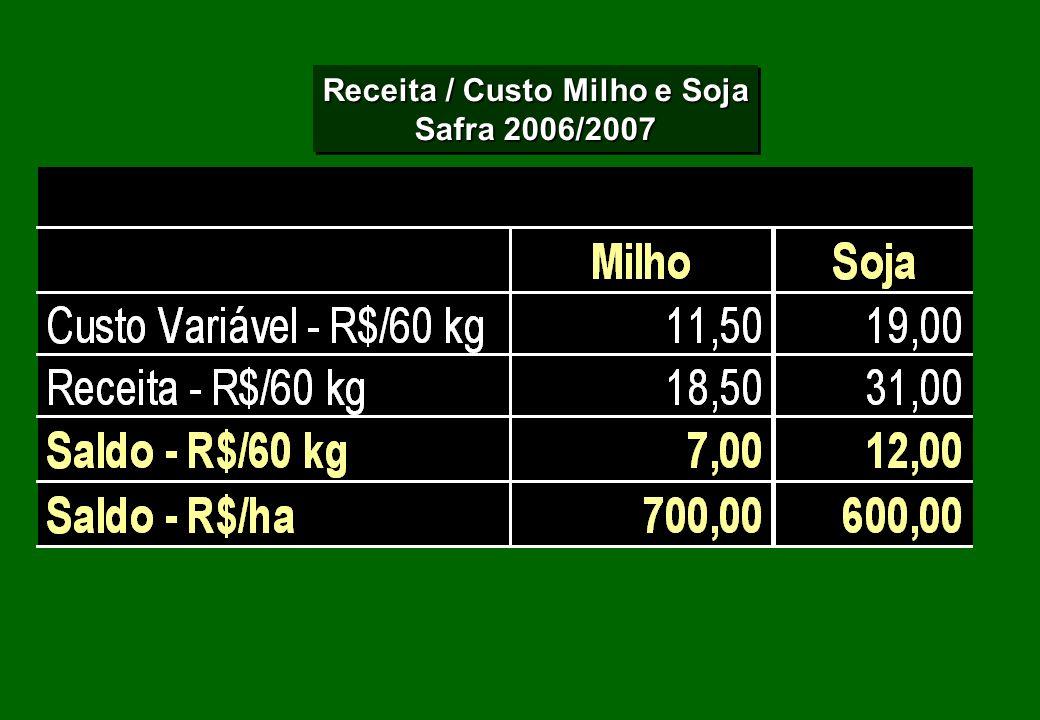Receita / Custo Milho e Soja