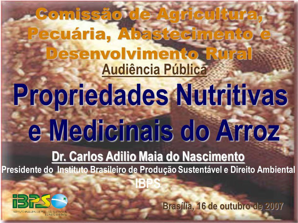 Propriedades Nutritivas e Medicinais do Arroz