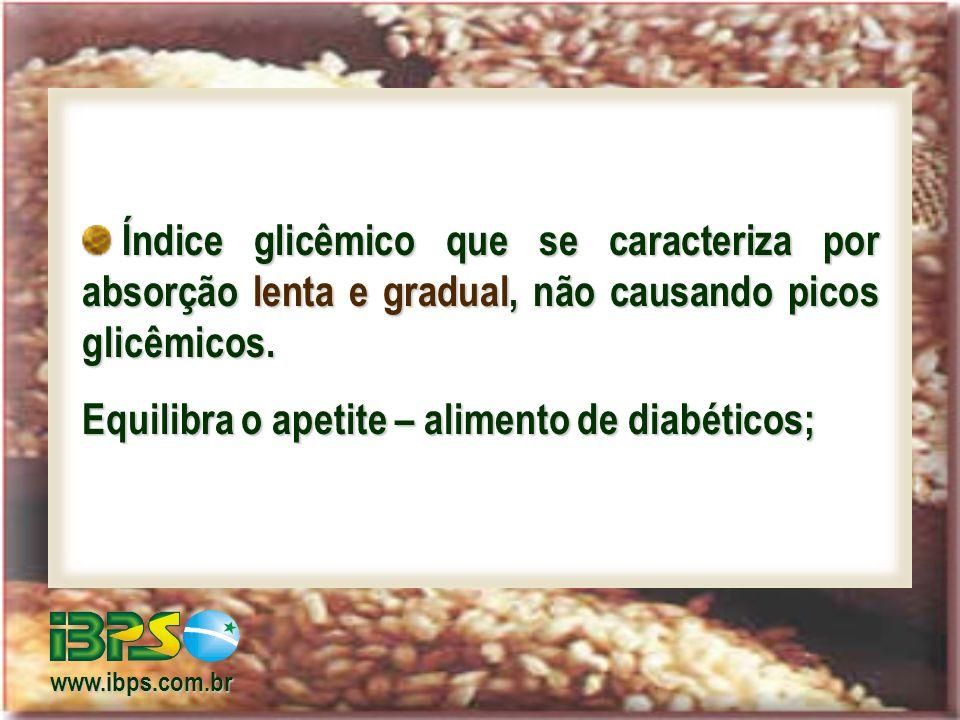 Equilibra o apetite – alimento de diabéticos;