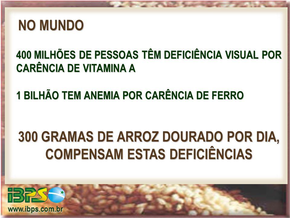 300 GRAMAS DE ARROZ DOURADO POR DIA, COMPENSAM ESTAS DEFICIÊNCIAS
