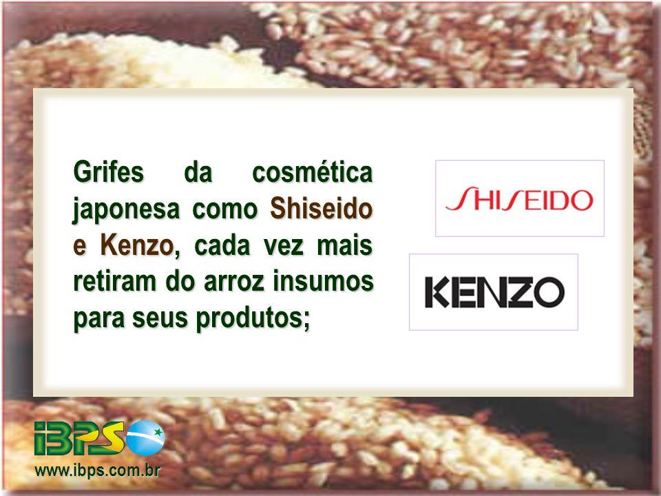 Grifes da cosmética japonesa como Shiseido e Kenzo, cada vez mais retiram do arroz insumos para seus produtos;