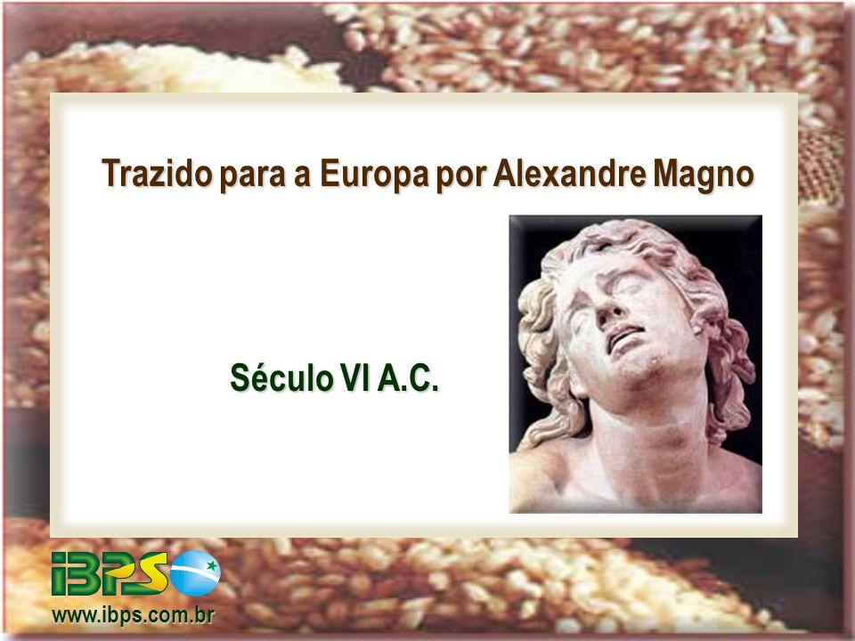 Trazido para a Europa por Alexandre Magno