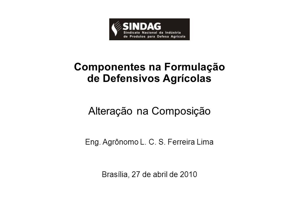 Componentes na Formulação de Defensivos Agrícolas