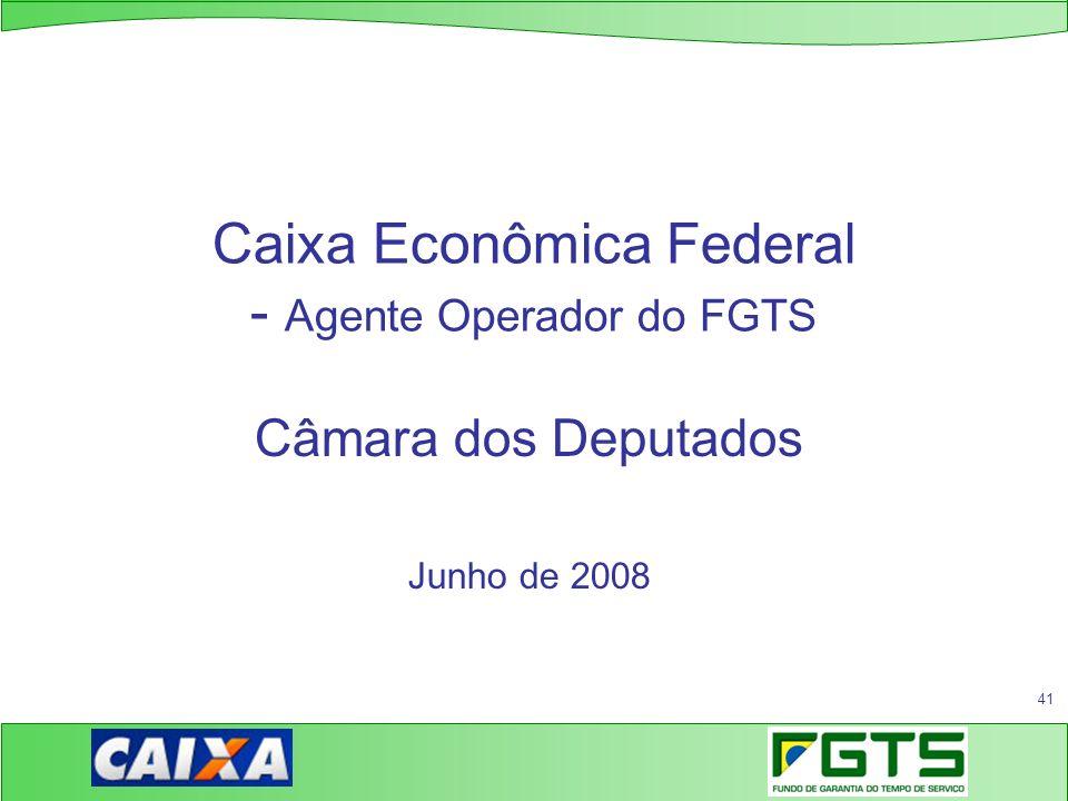 Caixa Econômica Federal - Agente Operador do FGTS