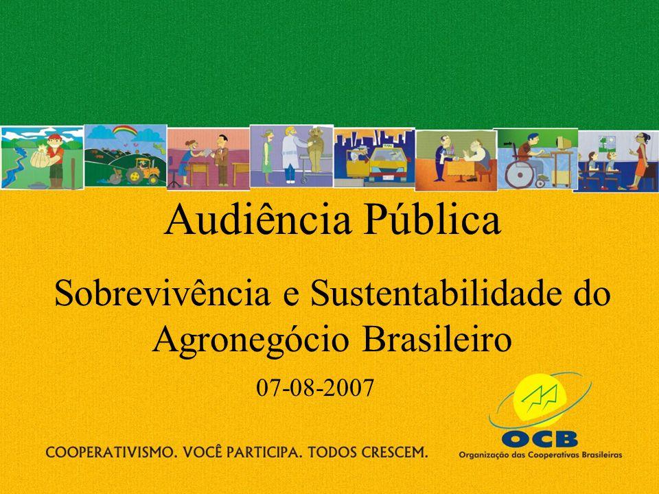 Sobrevivência e Sustentabilidade do Agronegócio Brasileiro