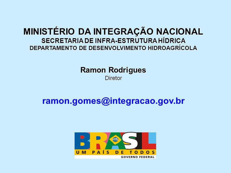 MINISTÉRIO DA INTEGRAÇÃO NACIONAL ramon.gomes@integracao.gov.br