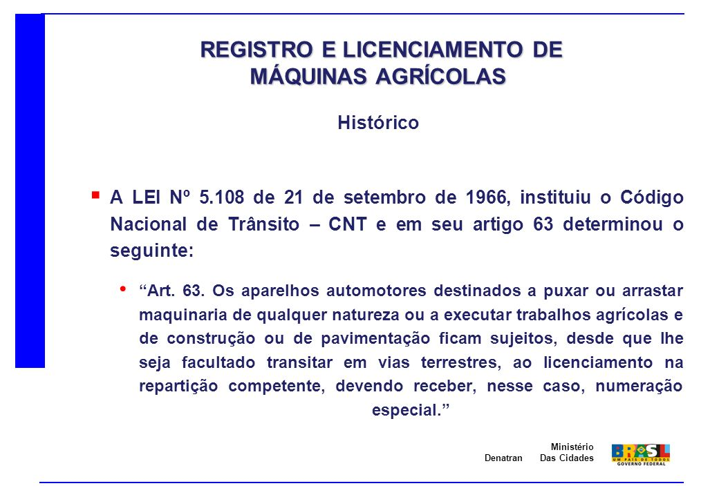 REGISTRO E LICENCIAMENTO DE