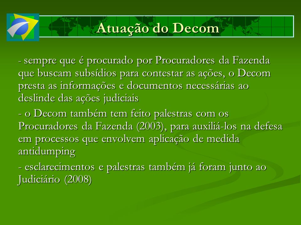 Atuação do Decom
