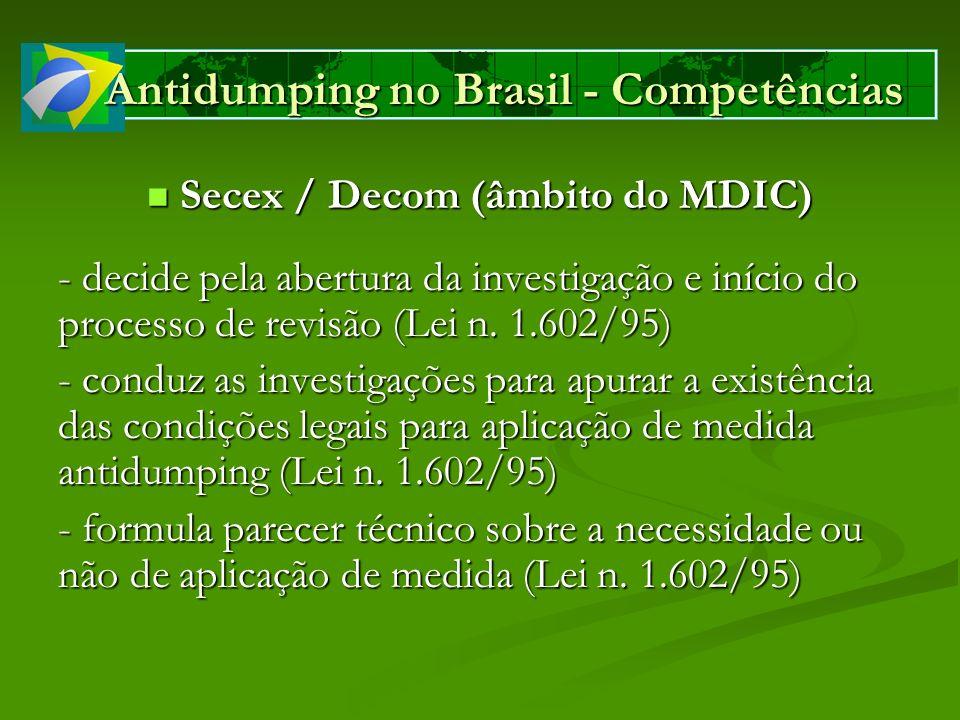 Antidumping no Brasil - Competências