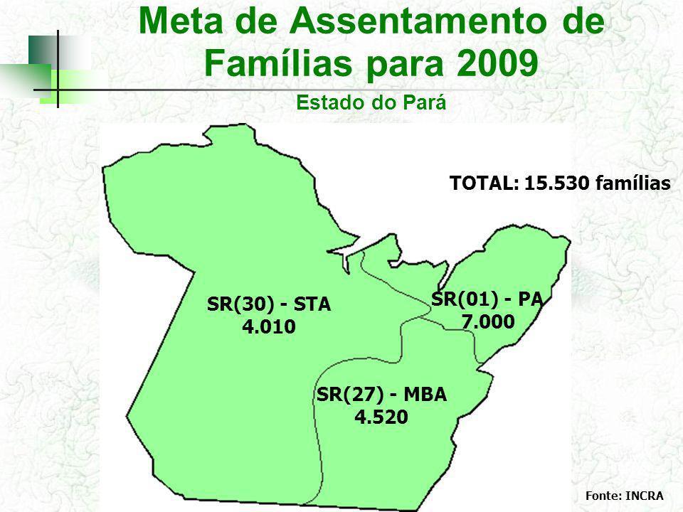 Meta de Assentamento de Famílias para 2009