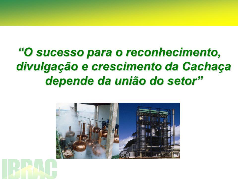 O sucesso para o reconhecimento, divulgação e crescimento da Cachaça depende da união do setor