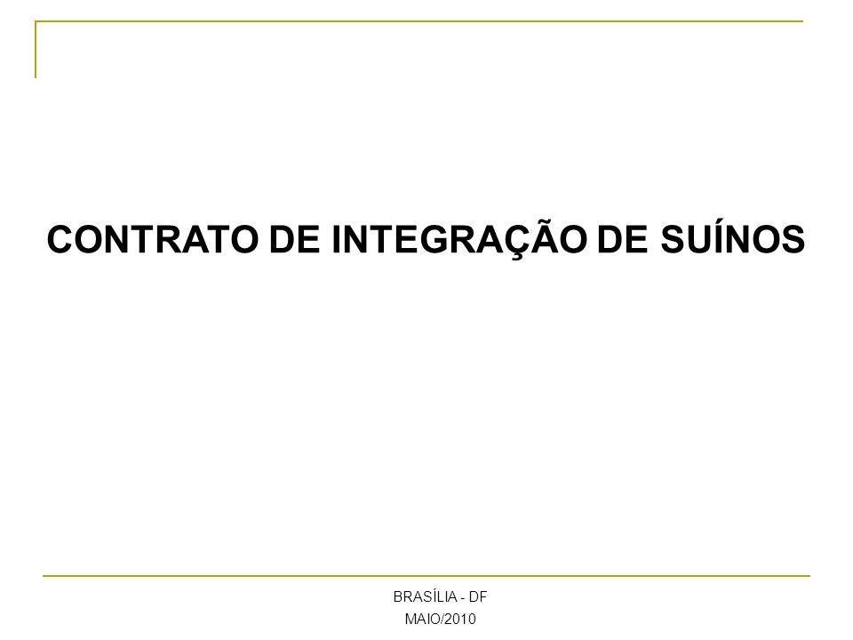CONTRATO DE INTEGRAÇÃO DE SUÍNOS