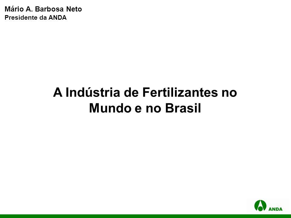 A Indústria de Fertilizantes no Mundo e no Brasil