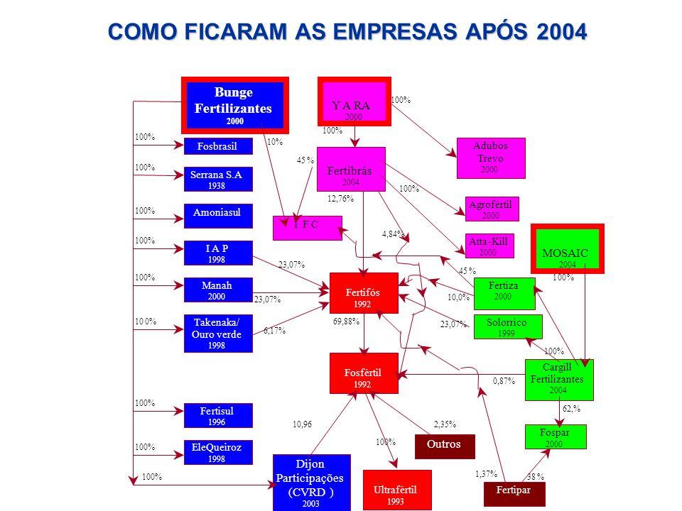 COMO FICARAM AS EMPRESAS APÓS 2004