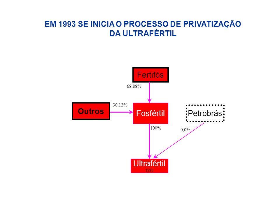EM 1993 SE INICIA O PROCESSO DE PRIVATIZAÇÃO