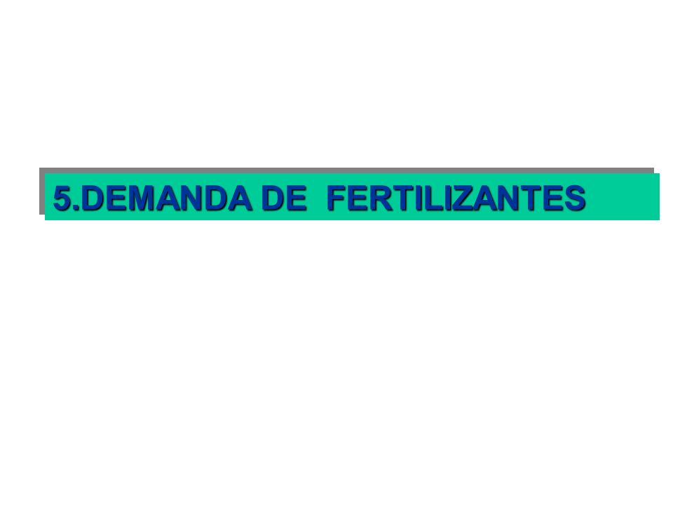 5.DEMANDA DE FERTILIZANTES