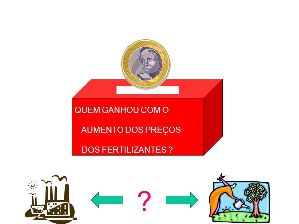 QUEM GANHOU COM O AUMENTO DOS PREÇOS DOS FERTILIZANTES