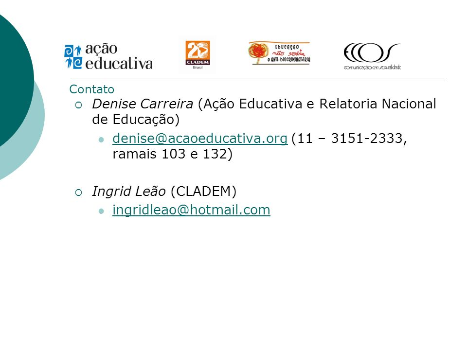 Denise Carreira (Ação Educativa e Relatoria Nacional de Educação)