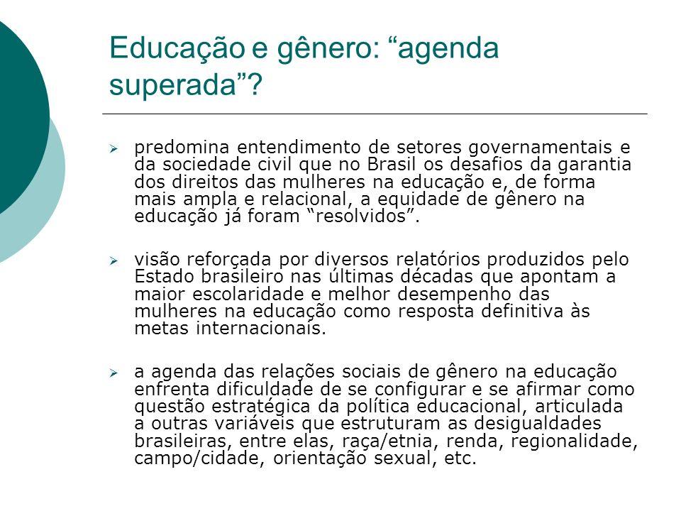 Educação e gênero: agenda superada