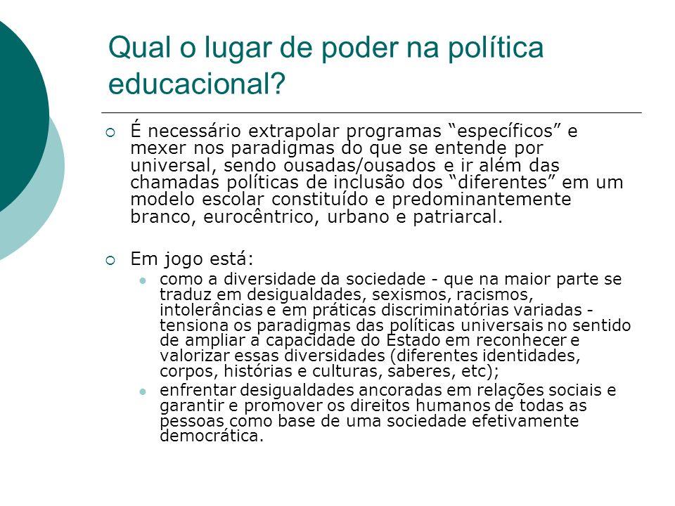 Qual o lugar de poder na política educacional