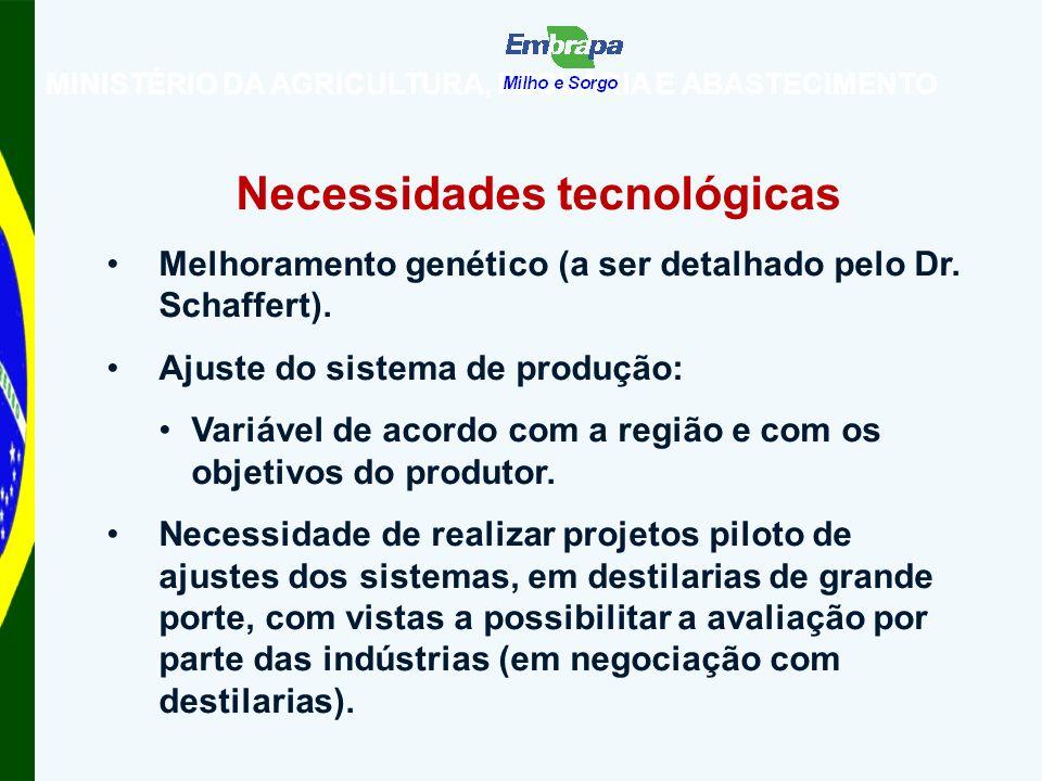 Necessidades tecnológicas