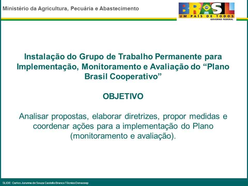 Instalação do Grupo de Trabalho Permanente para Implementação, Monitoramento e Avaliação do Plano Brasil Cooperativo