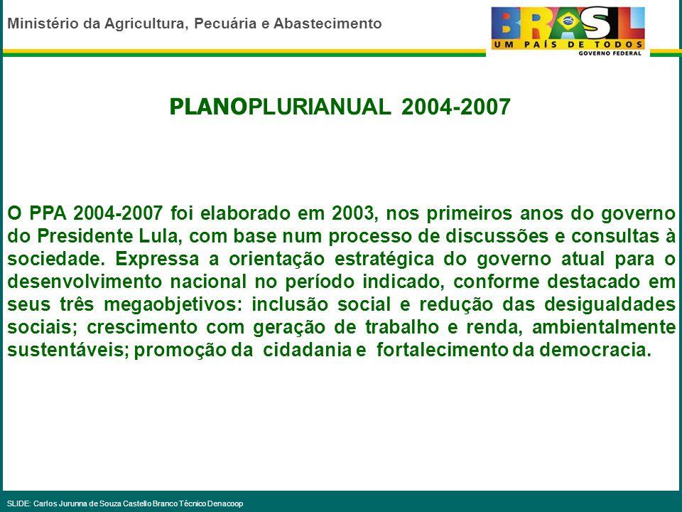PLANOPLURIANUAL 2004-2007