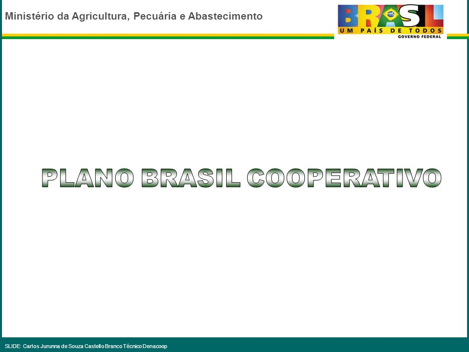 PLANO BRASIL COOPERATIVO